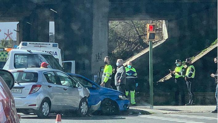 Tres heridos en un accidente de tráfico ocurrido en la calle Aragón de Palma