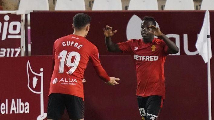 El Mallorca, más líder que nunca tras vencer en Albacete con un gol de Amath