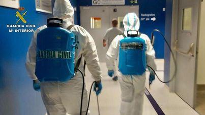La Guardia Civil desinfecta el Hospital de Can Misses