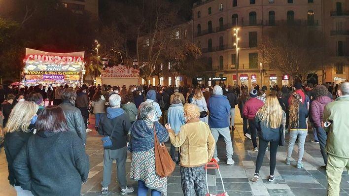 La Policía identifica a 20 personas en Palma tras la concentración que exigía la libertad del rapero Hasél
