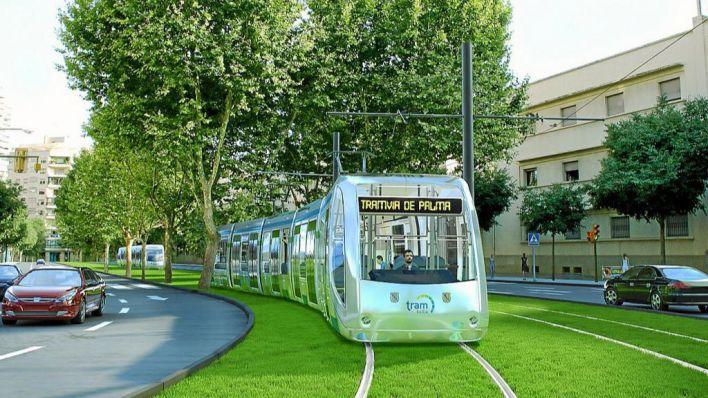 El GOB pide fondos europeos para el tranvía de Palma y la compra de Ses Fontanelles