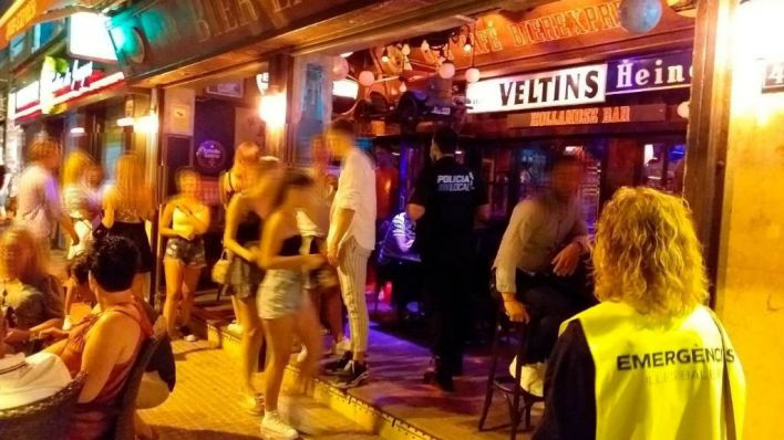 El TSJIB da la razón al Govern en el cierre de la 'calle de la Cerveza' de Playa de Palma