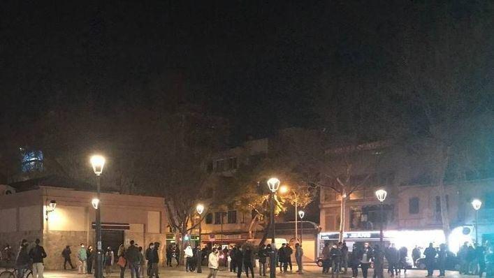Concentración en Palma en apoyo de Pablo Hasél