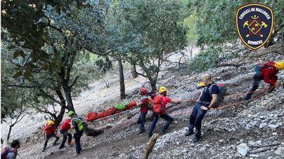 Rescatan a una mujer tras sufrir un accidente en Deià