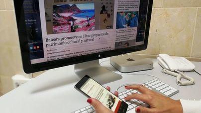 La prensa digital triplica en Baleares el seguimiento de los periódicos en papel