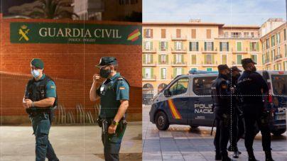 2.034 guardias civiles y 1.600 policías nacionales de Baleares se vacunarán en sus sedes