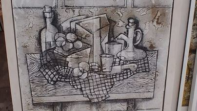 Obra de Joan Bennàssar, uno de los doce artistas que participan en la muestra