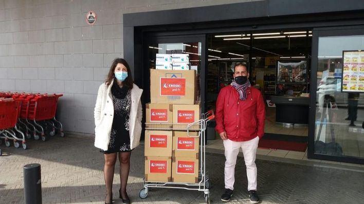 Eroski dona 155.000 mascarillas en Baleares