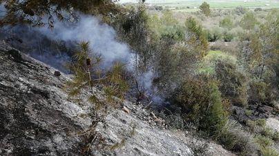 Un incendio forestal quema 0,02 hectáreas de pinar en Muro