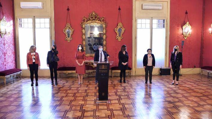 El Parlament celebra el 8M con la lectura de un manifiesto a favor de la igualdad