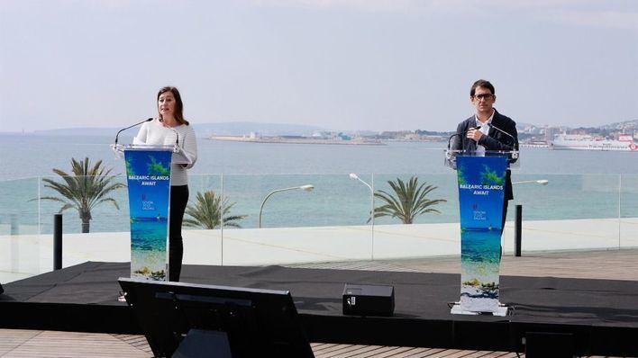 Armengol asegura que Baleares trabaja 'para ser el destino turístico líder del Mediterráneo a partir de junio'