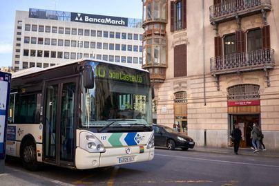 Los viajeros de autobús caen un 53 por ciento en Palma en enero y los de metro un 55 por ciento