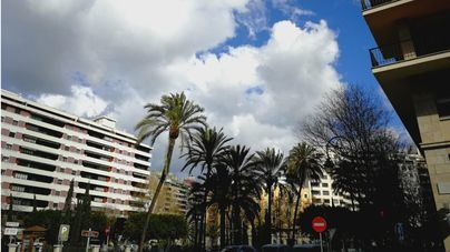 La semana empieza nubosa en Baleares