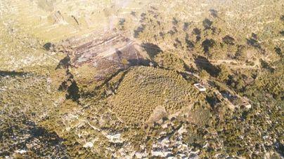 Declarado un incendio forestal en Cas Sabaters en Andratx