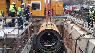 Excavan el tramo más largo del colector interceptor de aguas residuales