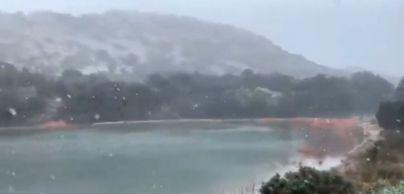 Nieve en la Serra, frío polar y lluvia en Mallorca