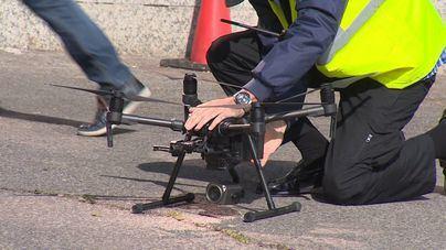 Los drones controlarán la desescalada en terrazas y restaurantes en Ibiza