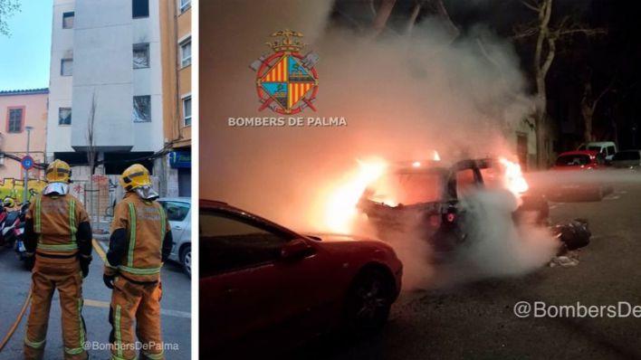 Noche de incendios en Son Gotleu: uno en un edificio okupa y otro en un coche