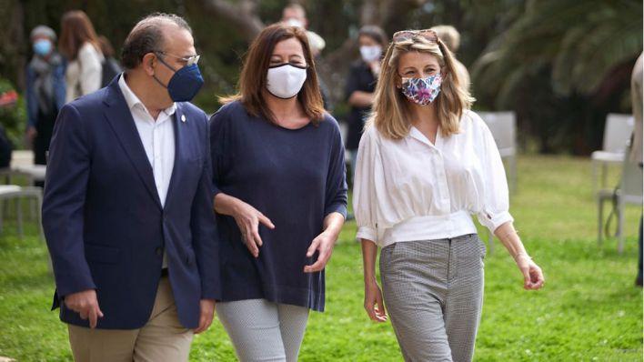 La ministra Díaz afirma en Mallorca que los ERTE se mantendrán 'mientras sean necesarios'
