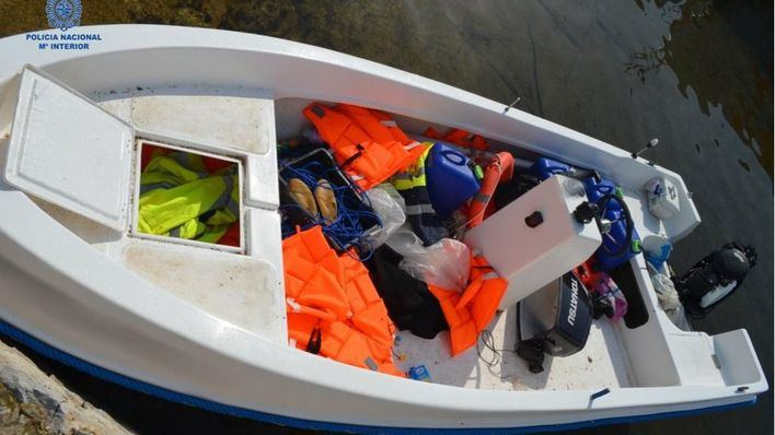 Detenido el patrón de la patera que llegó a Ibiza con 11 migrantes