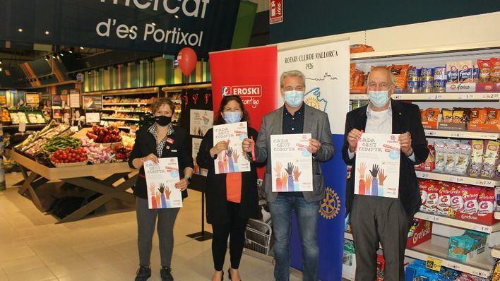 Eroski y Rotary Club de Mallorca presentan la campaña solidaria