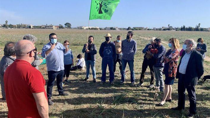 Més abandera la lucha de la Plataforma Pulmó Verd contra el parque fotovoltaico de Son Bonet