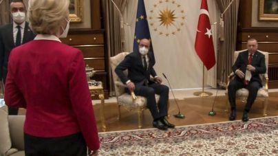 'Humillante y machista': así califica el Parlamento Europeo el Sofagate con Erdogan, Michel y Von der Leyen