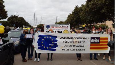 Nueva caravana en protesta contra el abuso de la temporalidad en la Administración