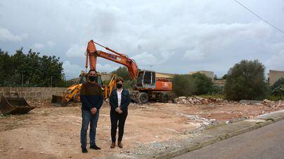 Comienzan las obras del nuevo almacén municipal de es Llombards