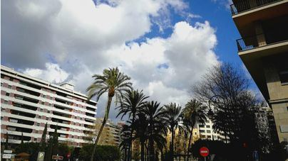 Nubosidad en aumento y temperaturas estables en Baleares