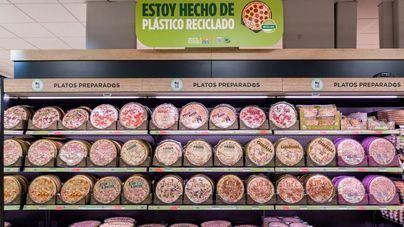 Mercadona incorpora plástico reciclado para mejorar el envase de sus pizzas refrigeradas