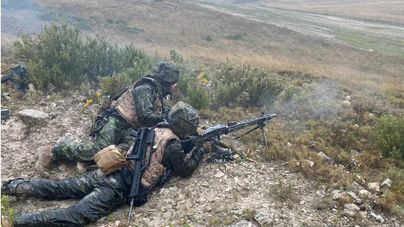 300 militares de Baleares participan en ejercicios de maniobras en Zaragoza