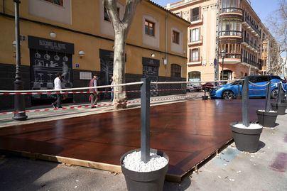 Proponen mantener el espacio ampliado de las terrazas de Palma hasta final de año