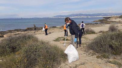 Más de 50 personas participan en la limpieza de Es Carnatge