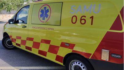 Dos heridos al chocar dos vehículos en la autopista de Inca
