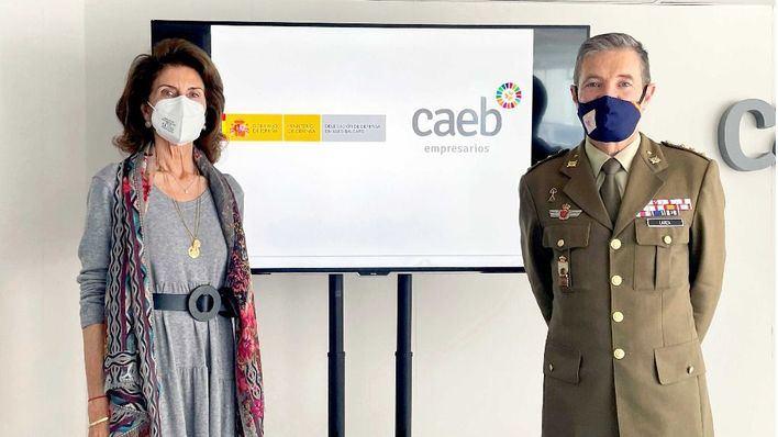Caeb y Defensa facilitan la incorporación laboral del personal militar al abandonar las Fuerzas Armadas