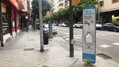 Instalan siete fuentes nuevas de agua potable en Palma