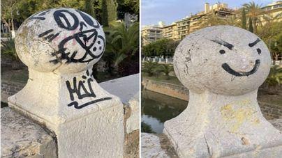 El PP de Palma insta a Hila a eliminar los grafitis en el Born, la Rambla y el Paseo de Mallorca