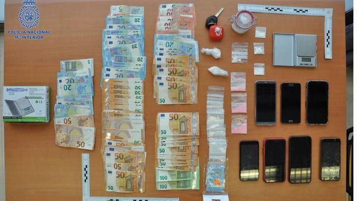 Tres detenidos en Manacor con más de 200 gramos de cocaína