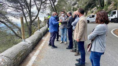 El Consell sustituirá las barreras metálicas en 12 carreteras de la Serra de Tramuntana