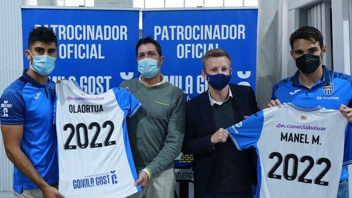 Iñaki Olaortua y Manel Martínez, una temporada más en el Atlético Baleares