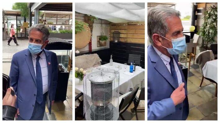 El presidente de Cantabria, sorprendido almorzando en el interior de un restaurante