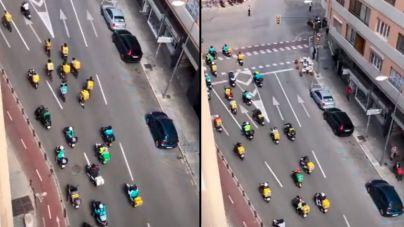 Los 'riders' toman Palma contra la aprobación de la ley de su sector