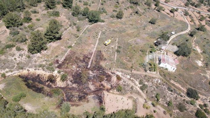 Un incendio agrícola afecta a unos terrenos situados en Sant Josep, en Ibiza