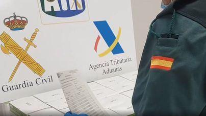 La Guardia Civil interviene en Palma más de un millar de test Covid procedentes de China