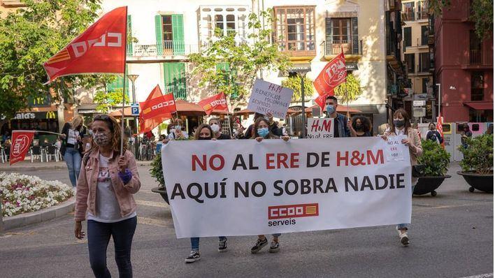 Paros parciales de los trabajadores de H&M contra el ERE planteado por la empresa