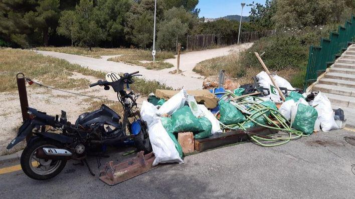 Voluntarios retiran media tonelada de residuos en el bosque de Son Quint