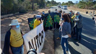 Protestas en la inauguración de la autopista Llucmajor-Campos
