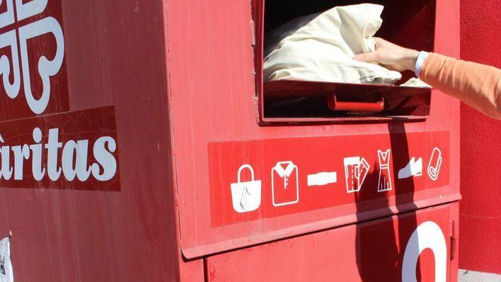 Càritas Mallorca y Eroski recogieron 160.000 kilos de ropa el año pasado