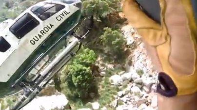 Las impresionantes imágenes del último rescate de la Guardia Civil en la Serra
